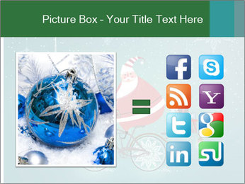 Cute Santa Claus on bicycle PowerPoint Templates - Slide 21