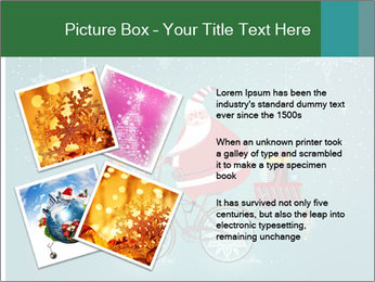 Cute Santa Claus on bicycle PowerPoint Templates - Slide 23