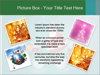 Cute Santa Claus on bicycle PowerPoint Templates - Slide 24