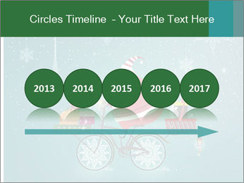 Cute Santa Claus on bicycle PowerPoint Templates - Slide 29
