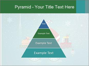 Cute Santa Claus on bicycle PowerPoint Template - Slide 30