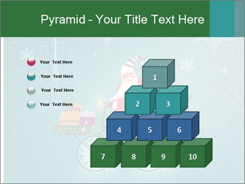 Cute Santa Claus on bicycle PowerPoint Templates - Slide 31