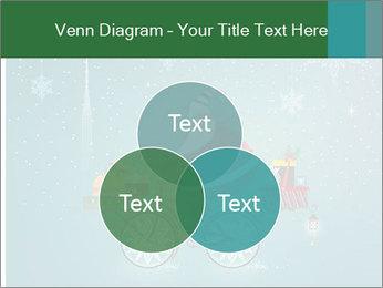 Cute Santa Claus on bicycle PowerPoint Template - Slide 33