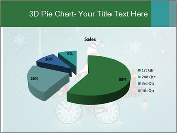 Cute Santa Claus on bicycle PowerPoint Templates - Slide 35