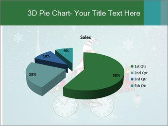 Cute Santa Claus on bicycle PowerPoint Template - Slide 35