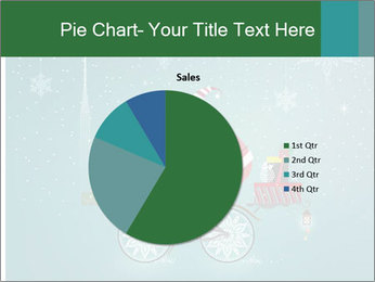 Cute Santa Claus on bicycle PowerPoint Template - Slide 36