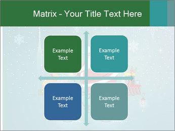 Cute Santa Claus on bicycle PowerPoint Template - Slide 37