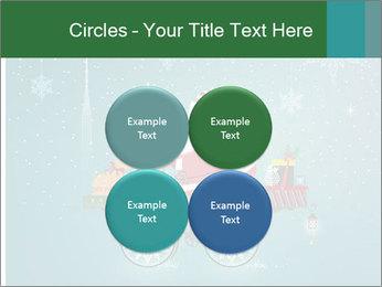 Cute Santa Claus on bicycle PowerPoint Template - Slide 38