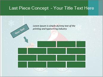 Cute Santa Claus on bicycle PowerPoint Template - Slide 46