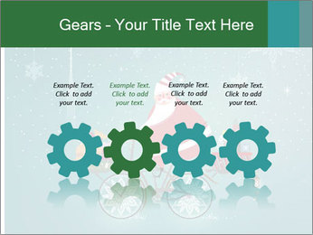 Cute Santa Claus on bicycle PowerPoint Templates - Slide 48