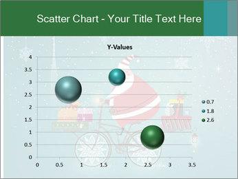Cute Santa Claus on bicycle PowerPoint Template - Slide 49