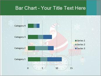 Cute Santa Claus on bicycle PowerPoint Template - Slide 52