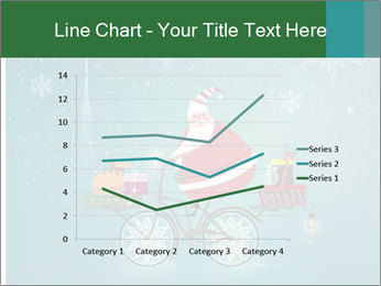 Cute Santa Claus on bicycle PowerPoint Templates - Slide 54