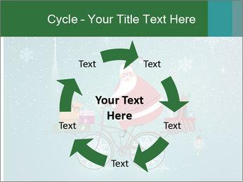 Cute Santa Claus on bicycle PowerPoint Template - Slide 62