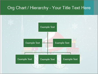 Cute Santa Claus on bicycle PowerPoint Templates - Slide 66