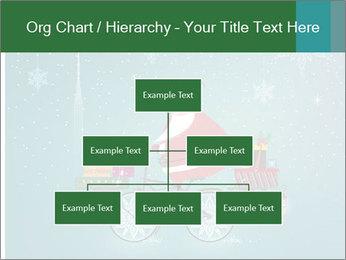 Cute Santa Claus on bicycle PowerPoint Template - Slide 66