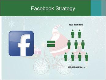 Cute Santa Claus on bicycle PowerPoint Template - Slide 7