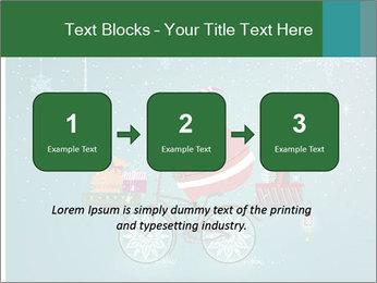 Cute Santa Claus on bicycle PowerPoint Template - Slide 71