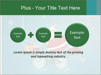 Cute Santa Claus on bicycle PowerPoint Template - Slide 75