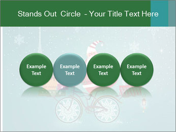 Cute Santa Claus on bicycle PowerPoint Templates - Slide 76