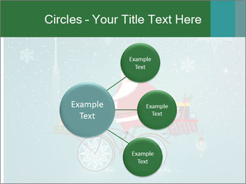 Cute Santa Claus on bicycle PowerPoint Templates - Slide 79