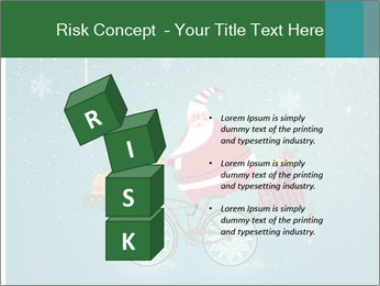 Cute Santa Claus on bicycle PowerPoint Templates - Slide 81