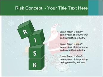 Cute Santa Claus on bicycle PowerPoint Template - Slide 81