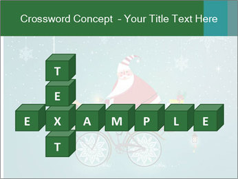 Cute Santa Claus on bicycle PowerPoint Templates - Slide 82