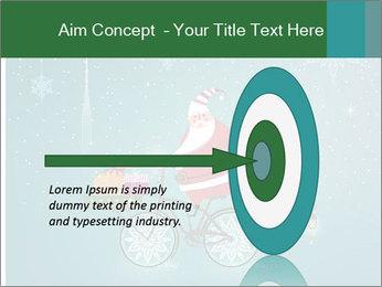 Cute Santa Claus on bicycle PowerPoint Template - Slide 83
