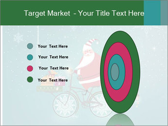 Cute Santa Claus on bicycle PowerPoint Templates - Slide 84