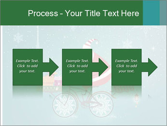 Cute Santa Claus on bicycle PowerPoint Template - Slide 88