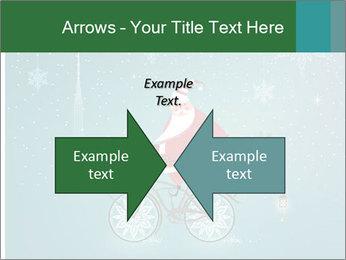 Cute Santa Claus on bicycle PowerPoint Template - Slide 90