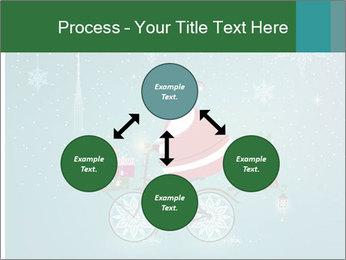 Cute Santa Claus on bicycle PowerPoint Template - Slide 91