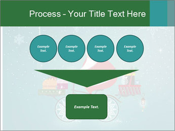 Cute Santa Claus on bicycle PowerPoint Templates - Slide 93