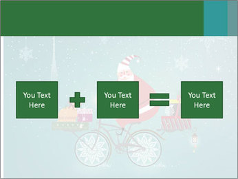 Cute Santa Claus on bicycle PowerPoint Templates - Slide 95