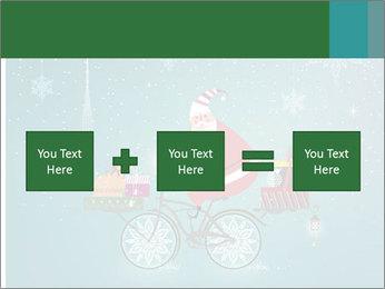 Cute Santa Claus on bicycle PowerPoint Template - Slide 95
