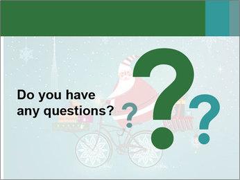 Cute Santa Claus on bicycle PowerPoint Template - Slide 96