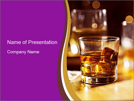 Cocktail glass PowerPoint Template