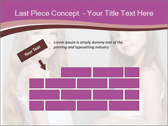 Little girls PowerPoint Template - Slide 46