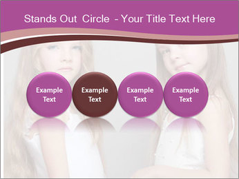 Little girls PowerPoint Template - Slide 76