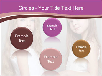 Little girls PowerPoint Template - Slide 77