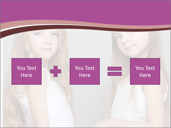 Little girls PowerPoint Template - Slide 95