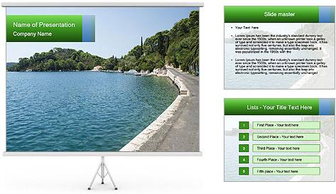Adriatic islands PowerPoint Template