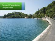 Adriatic islands PowerPoint Template