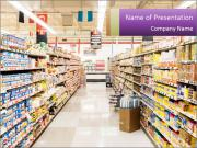 International supermarket PowerPoint Template