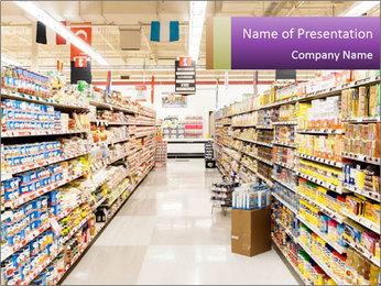 International supermarket PowerPoint Template - Slide 1