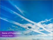 Aircraft in the sky PowerPoint Template