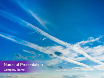 Aircraft in the sky PowerPoint Templates - Slide 1