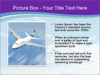 Aircraft in the sky PowerPoint Templates - Slide 13