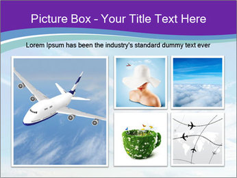 Aircraft in the sky PowerPoint Templates - Slide 19
